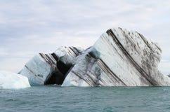 Η μαύρη καρδιά στον πάγο Στοκ Εικόνα