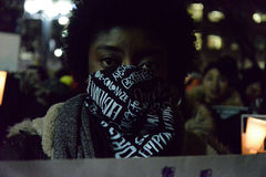 Η μαύρη Κοινότητα του Τορόντου λαμβάνει μέτρα στην αλληλεγγύη με τους διαμαρτυρομένους Ferguson στοκ εικόνες με δικαίωμα ελεύθερης χρήσης