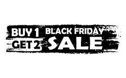 Η μαύρη Παρασκευή αγοράζει το ένα παίρνει δύο Στοκ Εικόνα