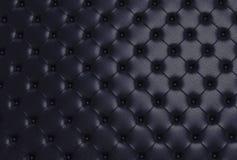 Η μαύρη σύσταση του δέρματος γέμισε τον καναπέ Στοκ Εικόνα
