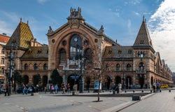 Η μεγάλη ή κεντρική αίθουσα αγοράς στη Βουδαπέστη στοκ φωτογραφία
