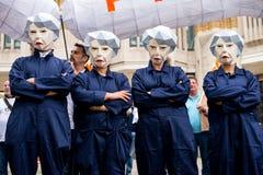 Η Μεγάλη Βρετανία αξίζει μια άνοδο αμοιβής - τελειώστε τη διαδήλωση διαμαρτυρίας ΚΑΠ τώρα Στοκ εικόνα με δικαίωμα ελεύθερης χρήσης