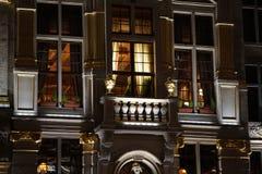 Η μεγάλη θέση των Βρυξελλών τη νύχτα στοκ φωτογραφίες