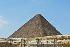 Η μεγάλη πυραμίδα Giza, Αίγυπτος στοκ εικόνα με δικαίωμα ελεύθερης χρήσης