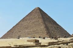 Η μεγάλη πυραμίδα Giza, Αίγυπτος στοκ εικόνες