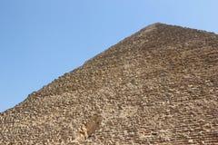 Η μεγάλη πυραμίδα Giza. Στοκ Εικόνα