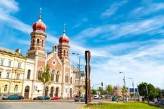 Η μεγάλη συναγωγή σε Plzen, η μεγαλύτερη συναγωγή στα τσέχικα Στοκ φωτογραφία με δικαίωμα ελεύθερης χρήσης