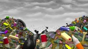 Η μεγάλη απόρριψη απορριμάτων, τρισδιάστατη απεικόνιση Στοκ Φωτογραφίες