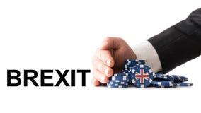 Η Μεγάλη Βρετανία αφήνει τη ζώνη του ευρώ Στοκ Εικόνες