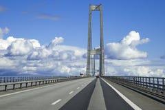 Η μεγάλη γέφυρα ζωνών, Δανία Στοκ Εικόνα