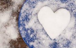 Η μεγάλη καρδιά χιονιού Στοκ Εικόνες
