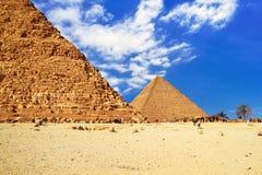 Η μεγάλη πυραμίδα Giza Στοκ φωτογραφίες με δικαίωμα ελεύθερης χρήσης