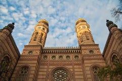 Η μεγάλη συναγωγή στη Βουδαπέστη Στοκ εικόνα με δικαίωμα ελεύθερης χρήσης