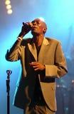 Η μεγάλου μεγέθους Jazz από την άπιστη ζώνη τραγουδά κατά τη διάρκεια του φεστιβάλ Vibe Στοκ Φωτογραφία
