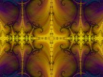 Η μεγαλειότητά της μεταξύ fractals διανυσματική απεικόνιση