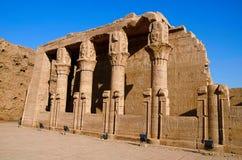Η μερική άποψη του ναού Edfu, αυτό είναι μια από τις καλύτερα συντηρημένες λάρνακες στην Αίγυπτο, που αφιερώνεται στο Θεό Horus γ Στοκ φωτογραφία με δικαίωμα ελεύθερης χρήσης