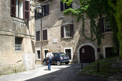 Η μεσαιωνική πόλη Arpino, Ιταλία Στοκ Εικόνες
