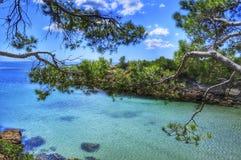 Η Μεσόγειος στο Κόστα Ντοράδα, Ισπανία Στοκ εικόνα με δικαίωμα ελεύθερης χρήσης