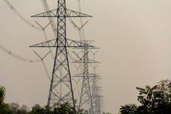 Η μετα κατασκευή καλωδίων ηλεκτρικής ενέργειας Στοκ εικόνα με δικαίωμα ελεύθερης χρήσης
