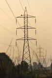 Η μετα κατασκευή καλωδίων ηλεκτρικής ενέργειας Στοκ Φωτογραφία