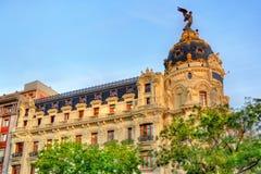 Η μητρόπολη Edificio, ένα ιστορικό κτήριο στη Μαδρίτη, Ισπανία στοκ φωτογραφία με δικαίωμα ελεύθερης χρήσης
