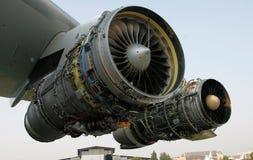 η μηχανή αεροσκαφών άνοιξε δύο Στοκ Φωτογραφίες
