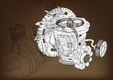 Η μηχανή αυτοκινήτων απεικόνιση αποθεμάτων
