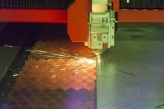Η μηχανή κοπτών λέιζερ ινών Στοκ Εικόνα
