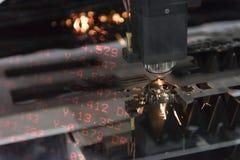 Η μηχανή κοπτών λέιζερ Στοκ Φωτογραφία