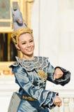 Η μη αναγνωρισμένη ηθοποιός εμφανίζει χορό leela asawa στοκ εικόνες
