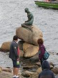 Η μικρή γοργόνα στην Κοπεγχάγη Στοκ Εικόνα