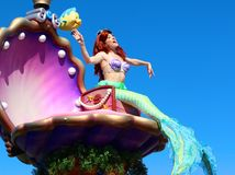 Η μικρή γοργόνα στο μαγικό βασίλειο της Disney Στοκ φωτογραφίες με δικαίωμα ελεύθερης χρήσης