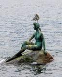 Η μικρή γοργόνα στο πάρκο του Stanley, Βανκούβερ, Π.Χ. Στοκ Φωτογραφίες
