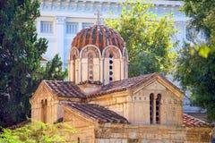 Η μικρή μητρόπολη, η εκκλησία του ST Eleutherios στοκ εικόνες με δικαίωμα ελεύθερης χρήσης