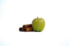 Η μικροσκοπικές Apple και κανέλα Στοκ Φωτογραφία