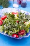 Η μικτή σαλάτα με το ruccola, κλείνει επάνω Στοκ Εικόνα