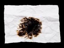 Η μμένη τσαλακωμένη Λευκή Βίβλος για το μαύρο υπόβαθρο Στοκ φωτογραφία με δικαίωμα ελεύθερης χρήσης
