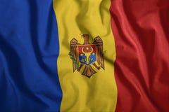 Η μολδαβική σημαία πετά στον αέρα Ζωηρόχρωμος, εθνική σημαία της Μολδαβίας Πατριωτισμός, ένα πατριωτικό σύμβολο ελεύθερη απεικόνιση δικαιώματος