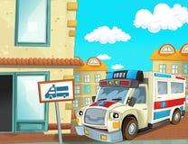 Η μονάδα έκτακτης ανάγκης - το ασθενοφόρο Στοκ εικόνα με δικαίωμα ελεύθερης χρήσης