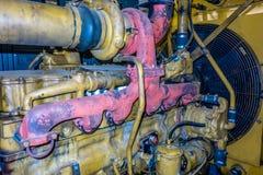 Η μονάδα γεννητριών diesel έχει ένα τοποθετημένα μονάδα θερμαντικό σώμα και καύσιμα filte στοκ εικόνα με δικαίωμα ελεύθερης χρήσης