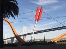 Η μοναδική γέφυρα κόλπων SAN Francisco-Όουκλαντ στοκ φωτογραφία