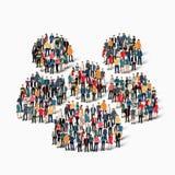 Η μορφή ανθρώπων ομάδας επανδρώνει Στοκ Εικόνες