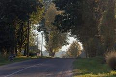 Η μοτοσικλέτα και ο δρόμος Στοκ Εικόνες