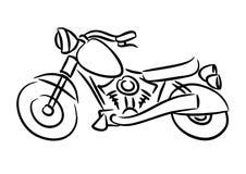 Η μοτοσικλέτα μπαλτάδων Στοκ Εικόνες