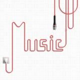 Η μουσική λέξης (εγγραφή) Στοκ φωτογραφίες με δικαίωμα ελεύθερης χρήσης