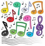 Η μουσική κινούμενων σχεδίων σημειώνει την εικόνα 1 θέματος ελεύθερη απεικόνιση δικαιώματος