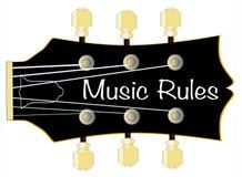 Η μουσική κυβερνά το σταθερό μέρος τόρνου κιθάρων απεικόνιση αποθεμάτων