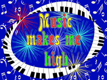 Η μουσική με καθιστά υψηλό ελεύθερη απεικόνιση δικαιώματος