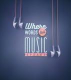 Η μουσική μιλά ελεύθερη απεικόνιση δικαιώματος