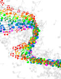 Η μουσική σημειώνει το έμβλημα Στοκ εικόνες με δικαίωμα ελεύθερης χρήσης